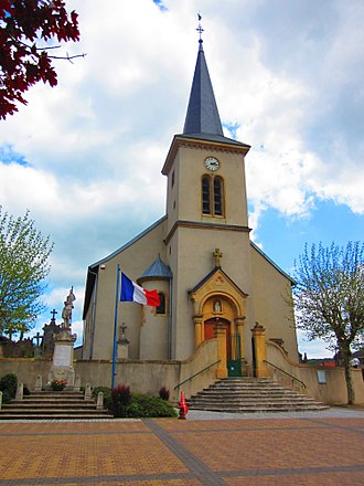 Aboncourt, Moselle - The church in Aboncourt