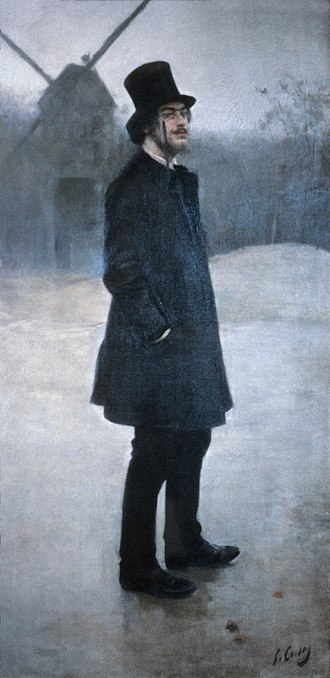 "Erik Satie - Satie, Moulin de la Galette (""The Bohemian""), Ramon Casas, (1891)"