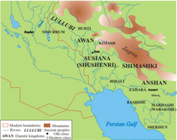 Territory of the Lullubi in the Mesopotamia area.