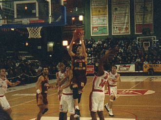 Élan Chalon - Chalon playing Limoges in March 1996