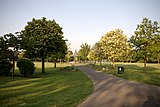 Looking west towards the Bandstand in Elthorne Park, Boston Road, Hanwell. London W7