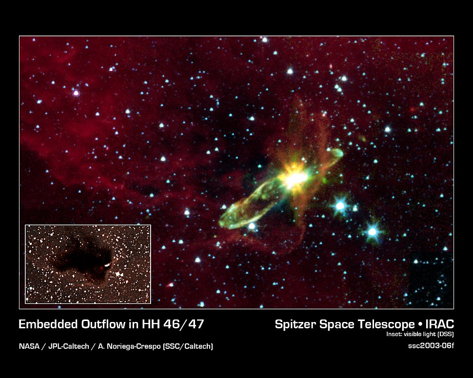 Embedded Outflow in Herbig-Haro object HH 46 47