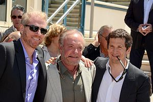 Blood Ties (2013 film) - Noah Emmerich, James Caan and Guillaume Canet promoting the film at the 2013 Cannes Film Festival.