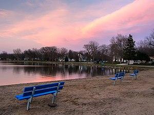 Emmetsburg, Iowa - Five Island Lake at sunset