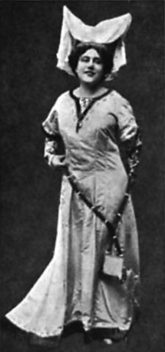 The Bartered Bride - The celebrated Czech opera singer Emmy Destinn in the role of Mařenka, circa 1917