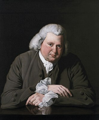 Erasmus Darwin - Joseph Wright of Derby, Erasmus Darwin (1770; Birmingham Museum and Art Gallery).