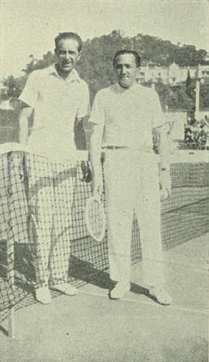 1929 in tennis - Erik Worm and Béla von Kehrling in San Remo