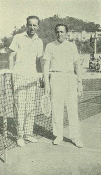 1929 in tennis - Erik Worm and Béla von Kehrling in San Remo