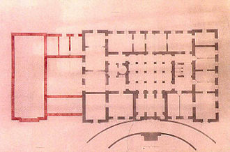 Presidential Mansion, Athens - The original Ernst Ziller's architectural plan of the ground floor