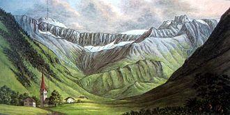 Sernftal - Matt im Sernftal 13 July 1811, painting by Hans Conrad Escher von der Linth