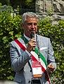 Esino Lario mayor Pietro Pensa at Wikimania 2016 closing ceremonies.jpg