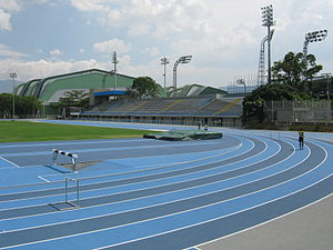Athletics at the 2010 South American Games - Image: Estadio de Atletismo (4) Medellin