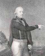 Duke of Württemberg in hussar uniform, pointing