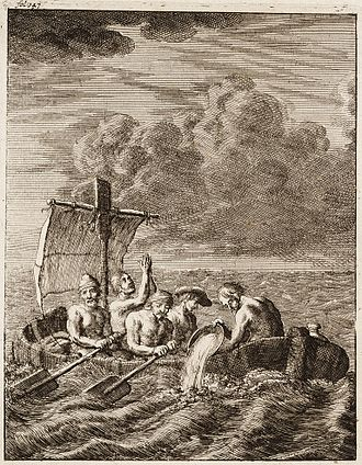 Slavery in Britain - Five Englishmen escaping slavery from Algiers, Barbary Coast, 1684
