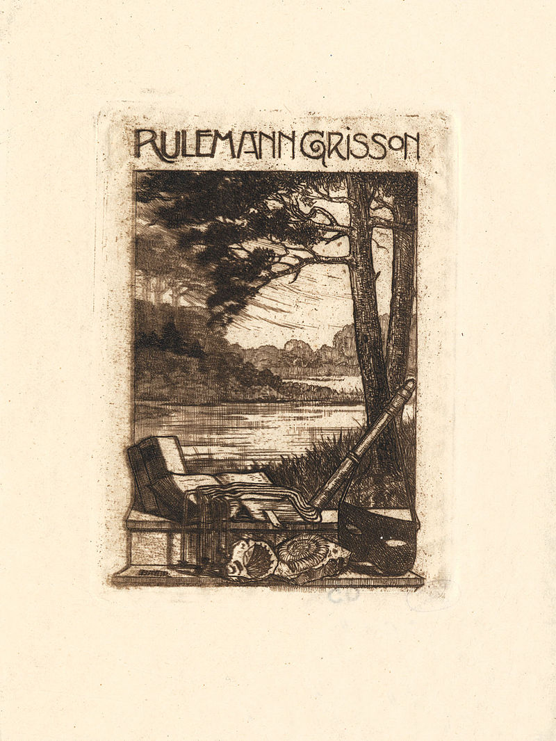 Ex libris Rulemann Grisson 1919.jpg