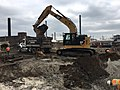 Excavating for a duct bank to be installed east of Queens Boulevard for the future Mid-day storage yard. (CQ033, 10-01-2018) (43302922910).jpg