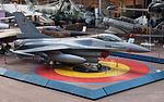 F-16 in the Royal Museum of the Armed Forces and Military History October 2015.jpg
