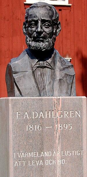 Fredrik August Dahlgren - F. A. Dahlgren bust in Ransäter, Värmland