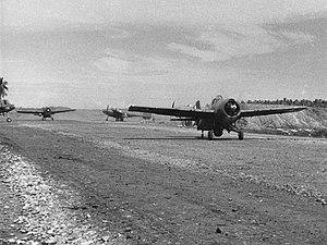 VMFA-121 - Image: F4F 4 Wildcats of VMF 121 at Guadalcanal 1942