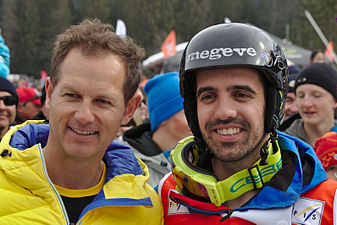 FIS Moguls World Cup 2015 Finals - Megève - 20150315 - Edgar Grospiron et Anthony Benna 1.jpg