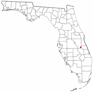 Yeehaw Junction, Florida - Image: FL Map doton Yeehaw Junction