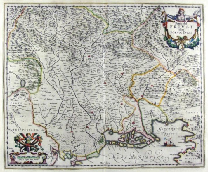 FRIULI 1650 Ioannis Blaeu