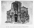 Façade occidentale de l'abbatiale Saint-Ouen avant achèvement.jpg