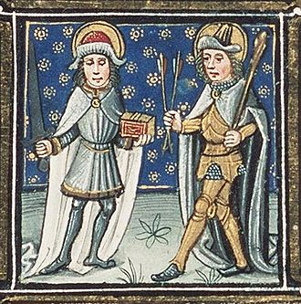 Pope Fabian - Fabian with Saint Sebastian: the feast of both of these saints' is celebrated on January 20.