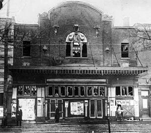 Laurier Palace Theatre fire - Theatre facade, after the fire, 1927