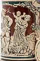 Faience beer stein with ball scene on brown background 13.jpg
