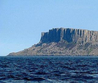 Fair Head Dolerite mountain cliff, Northern Ireland