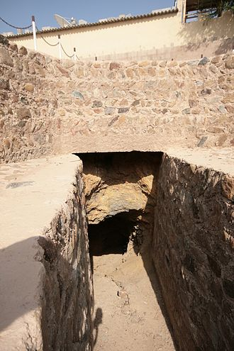 Masafi - Falaj (man-made underground aquifer) at Masafi Fort