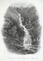 Falls at the Devil's Bridge, near Aberystwith