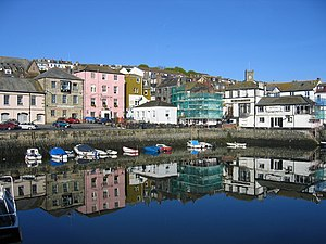 Falmouth Custom House Quay. The still water ea...