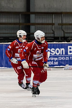 Kalix BF - Kalix BF players Magnus Johansson and Peter Stock in January 2013