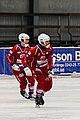 Falu BS BK vs Kalix Bandy 2013-01-27 02 Magnus Johansson, Peter Stock.jpg