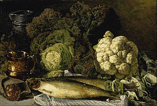 Still Life with Vegetables and Fish