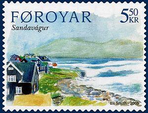 Sandavágur - Image: Faroe stamp 511 vagar sandavagur
