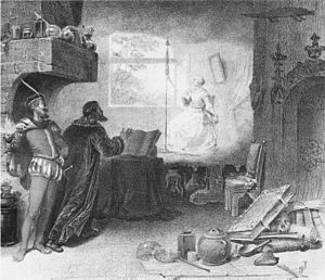 Faust (opera) - The vision of Marguerite as staged at Covent Garden in 1864 with Jean-Baptiste Faure as Méphistophélès and Giovanni Mario as Faust