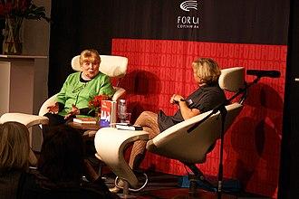 Fay Weldon - Fay Weldon at the Copenhagen Book Fair in 2008