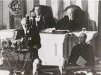 Fdr delivers speech