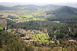 Felanitx - View from Castle of Santueri in Felanitx.