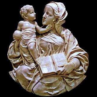 Felipe Bigarny - Virgin and Child attributed to Felipe Bigarny (Museo Nacional de Escultura, Valladolid).