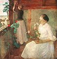 Ferenczy, Károly - Girls Attending to Flowers (1889).jpg