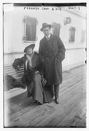 Fernando Carpi - Image: Fernando Carpi and wife in 1916