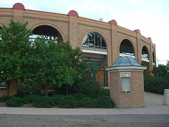 Akron Racers - Exterior of Firestone Stadium, site of Akron Racer home games.