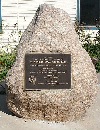 Iowa State Fair - Site of First Iowa State Fair