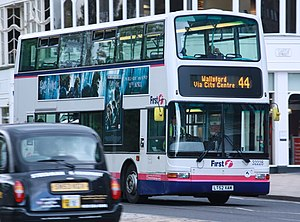 First Scotland East - Plaxton President bodied Dennis Trident 2 on Princes Street in May 2011