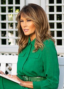 "First Lady Melania Trump Records a Reading of ""The Little Rabbit"" for Easter (49770725846) (cropped).jpg"