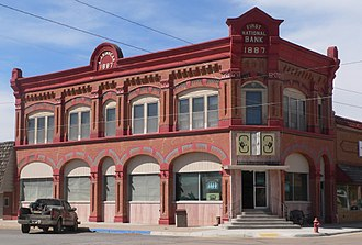 Clark County, Kansas - Image: First National Bank bldg (Ashland, KS) from SE 2